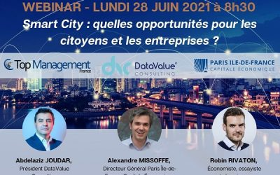 REPLAY Webinaire 28/06/21 : Smart City – quelles opportunités pour les citoyens et les entreprises ?